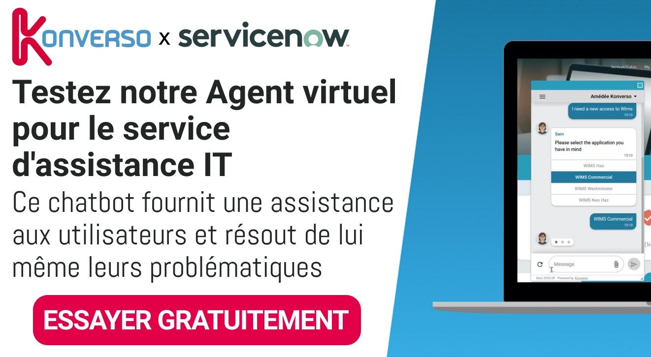 Essayez gratuitement notre Agent Virtuel pour l'assistante IT