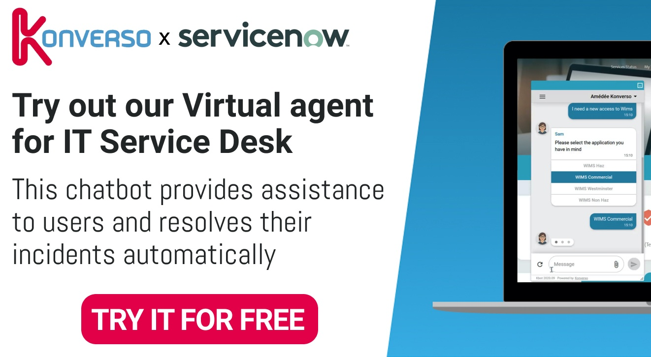 Try out our Virtual Agent for IT Service Desk