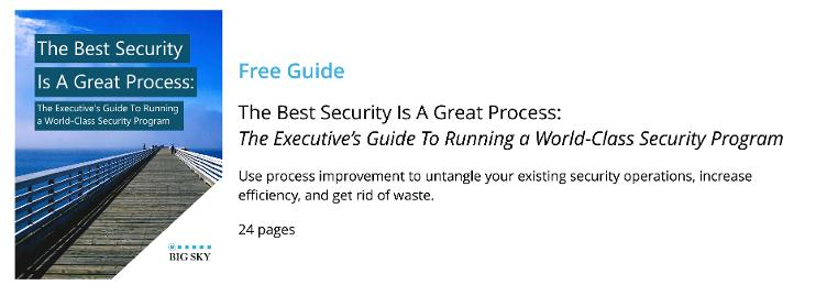 Download Big Sky's Executive Guide To Running a World-Class Security Program
