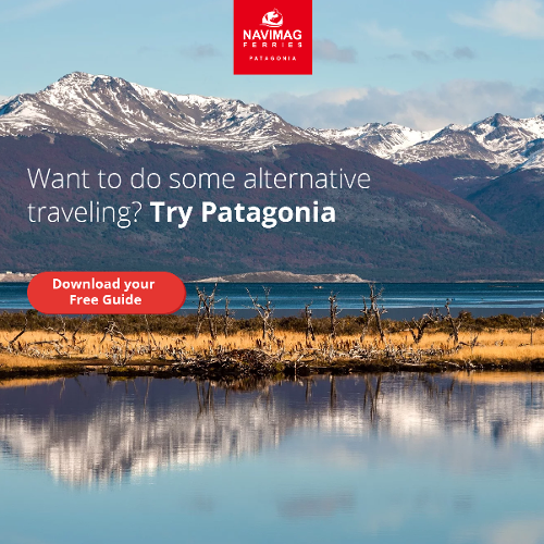 "Download your ebook ""alternative travelling in Patagonia""."