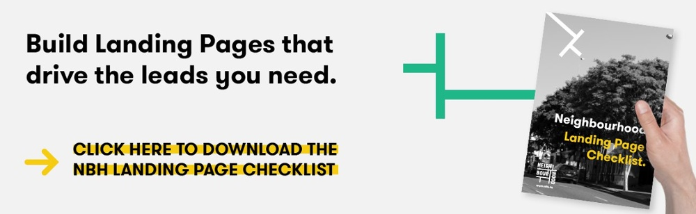 cta to download the Neighbourhood Landing Page Checklist