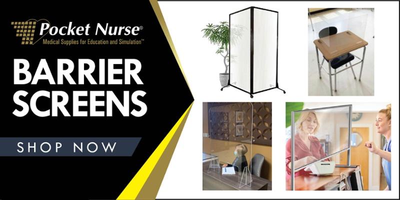 Barrier Screens at Pocket Nurse