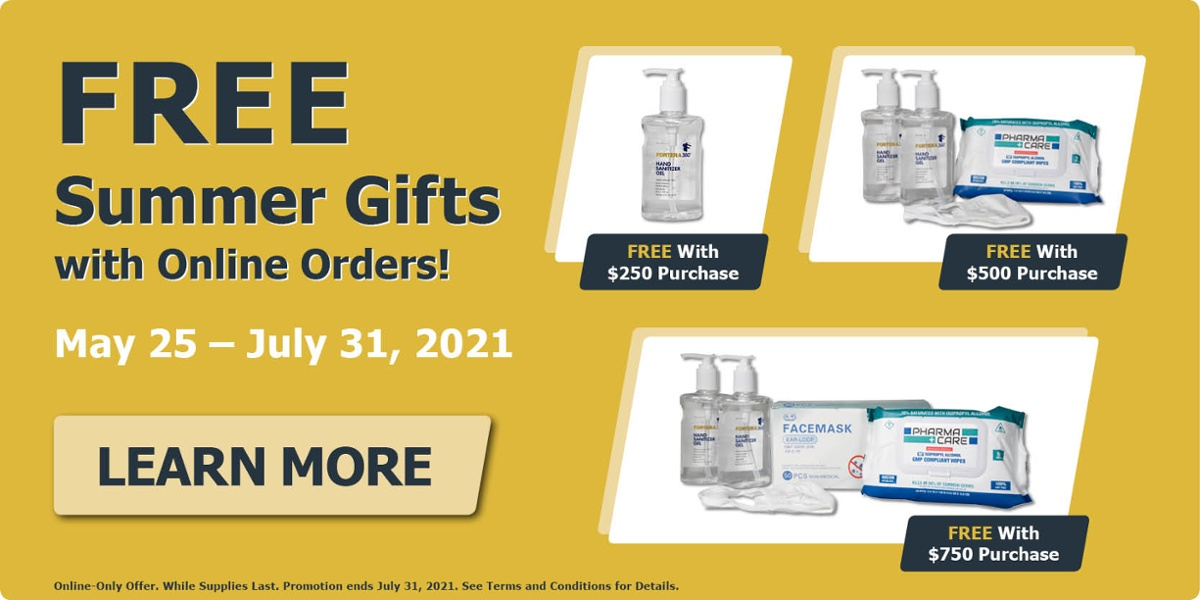 Free Gifts with Purchases of $250, $500, or $750