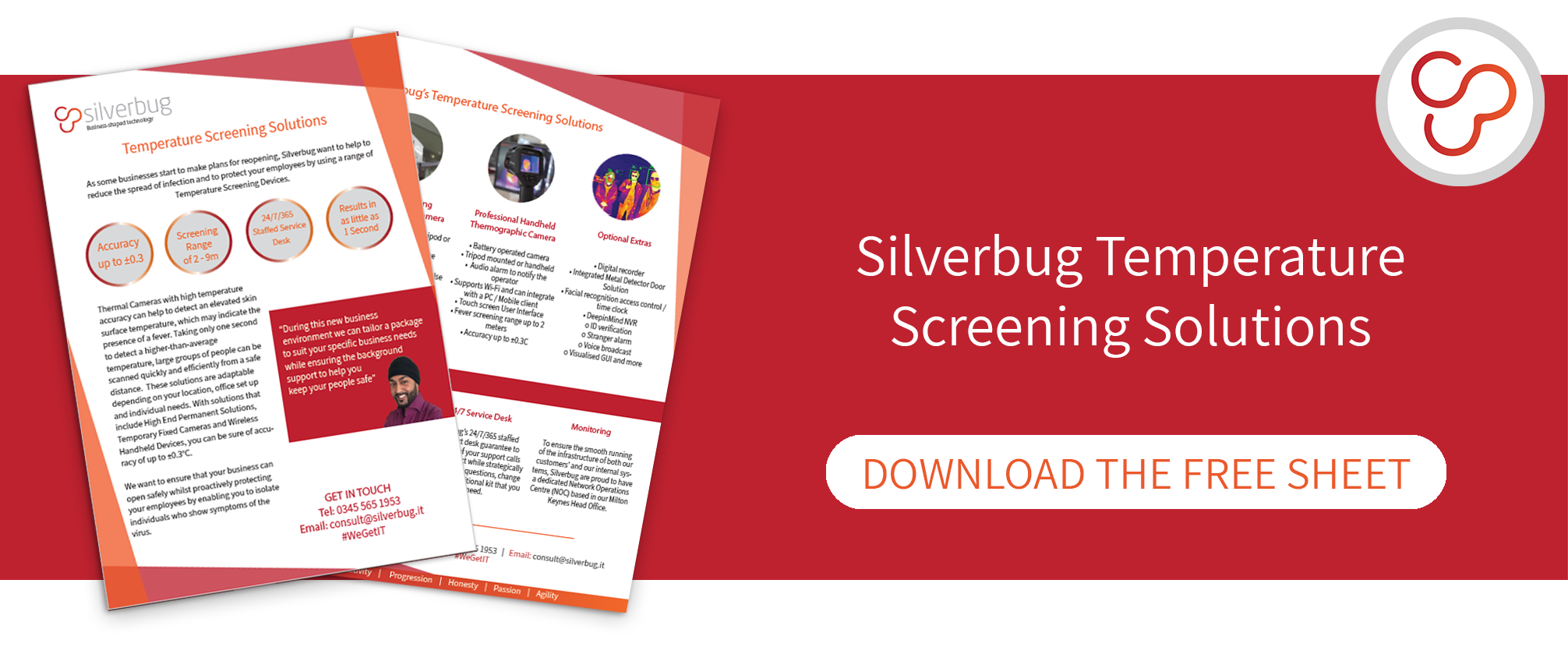 download the Silverbug temperature screening solutions information sheet