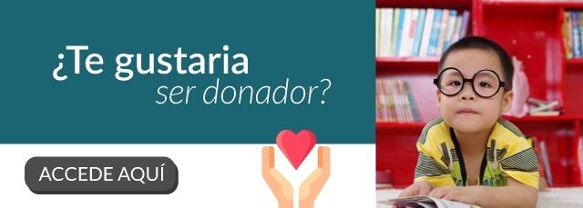 Conviertete en un donador aquí