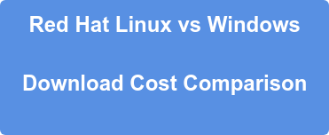 Red Hat Linux vs Windows  Download Cost Comparison