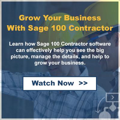 Sage 100 Contractor On-Demand Webinar