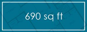690 sq ft