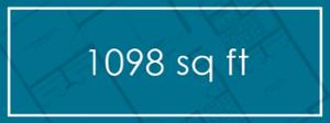 1098 sq ft