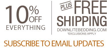 10% and Free Shipping by subscribing to email updates