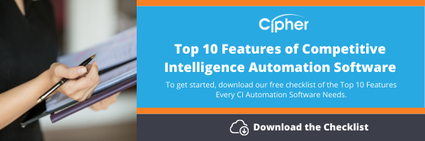 Competitive Intelligence Automation Software checklist