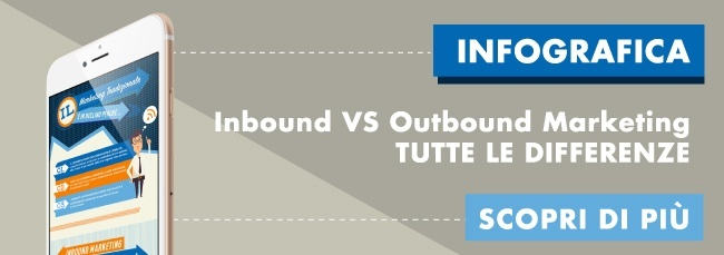 Inbound e outbound marketing confronto infografica