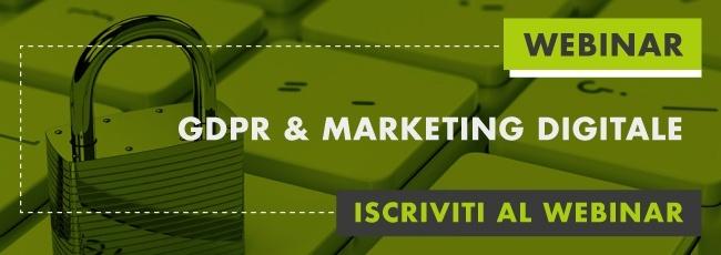 GDPR e marketing digitale webinar