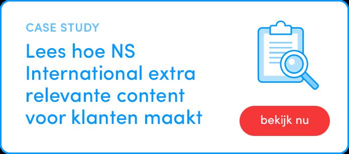 GX case study lees hoe NS international extra relevante content voor bestaande klanten maakt