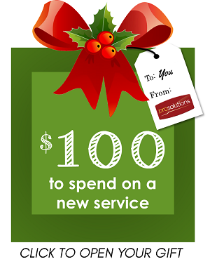 $100 to use on a new service, with our thanks