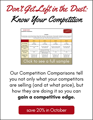 Know your competition with our Competition Comparison program.
