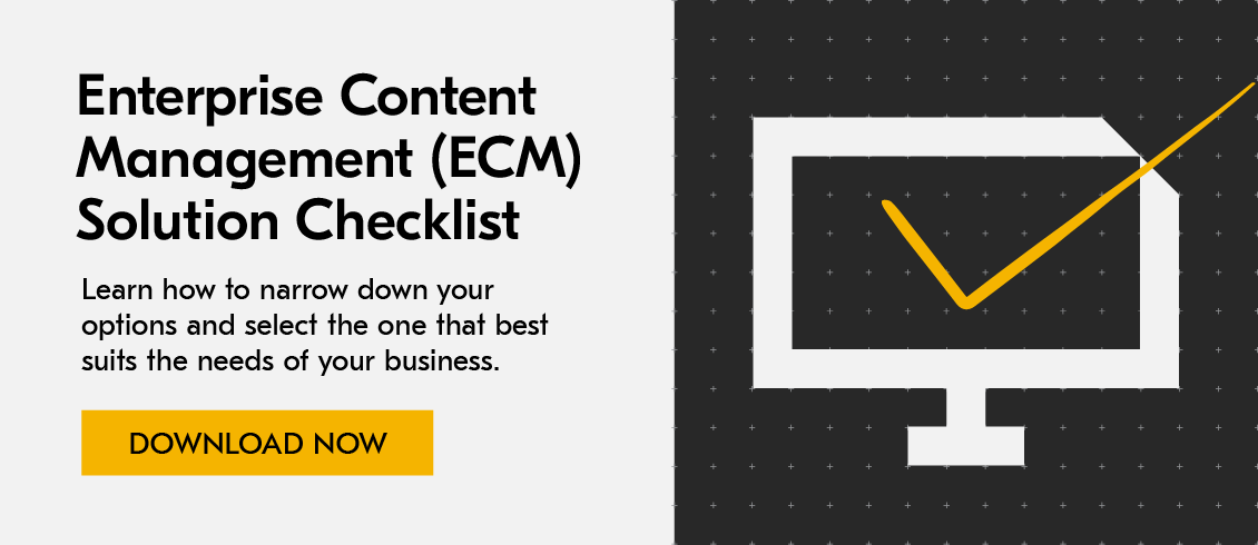 enterprise content management ECM checklist