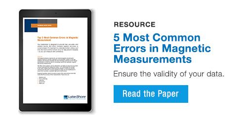 5 most common magnetic measurement errors