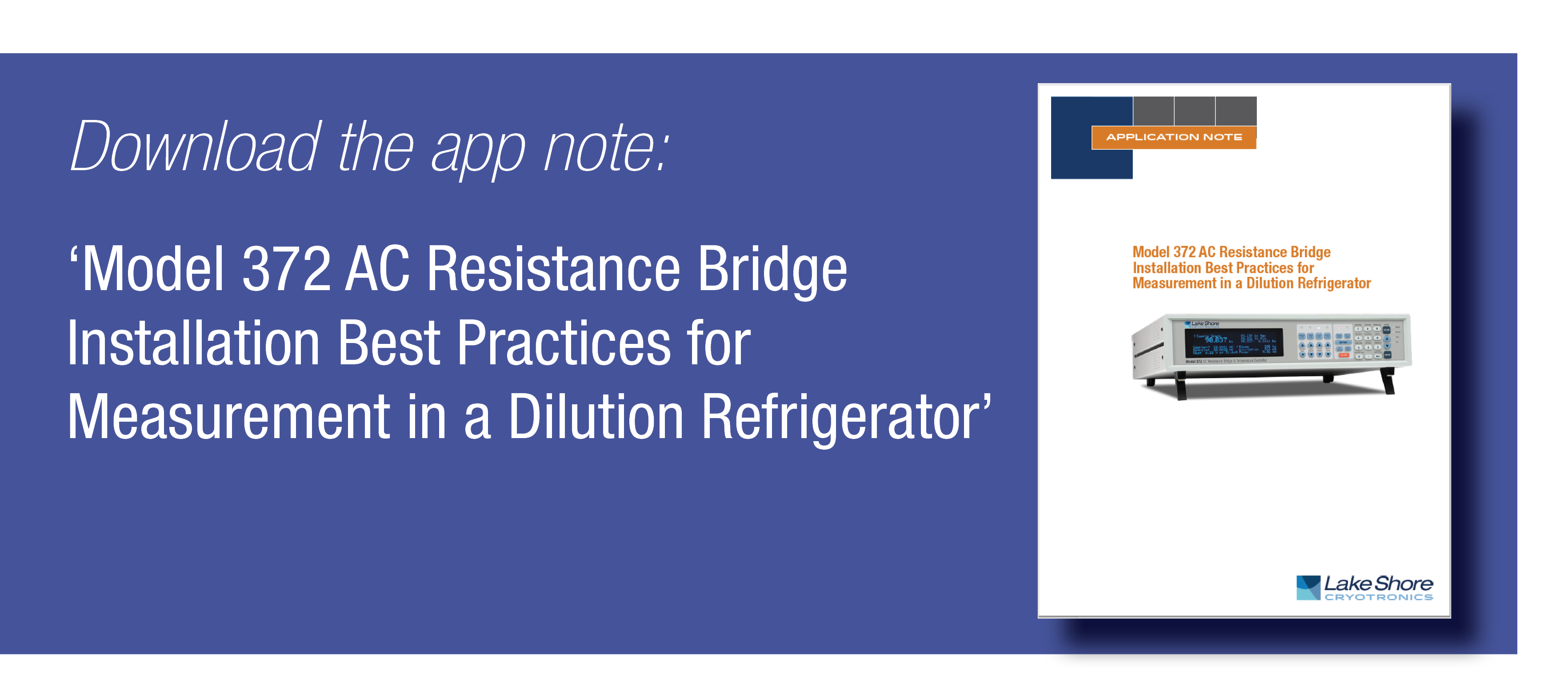 Model 372 Dilution Refrigerator Application Note