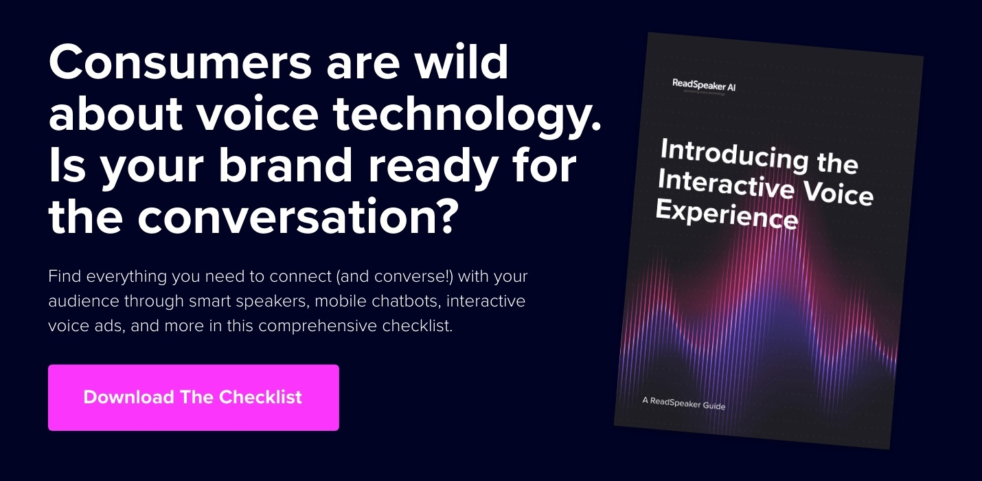 Introducing the Interactive Voice Experience - ReadSpeaker