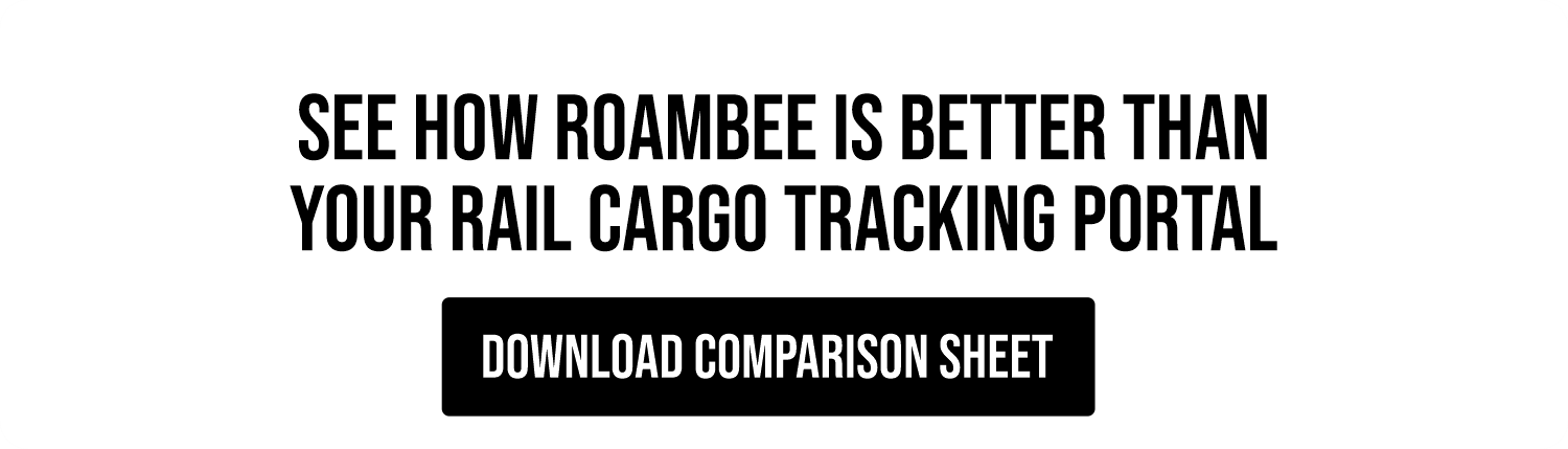 Download Roambee GPS Tracking vs. Rail Tracking Portals Comparison Sheet
