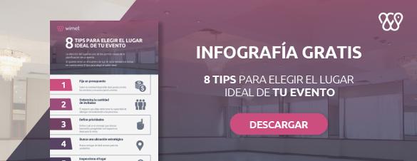 Infografía tips para elegir el lugar ideal de tu evento