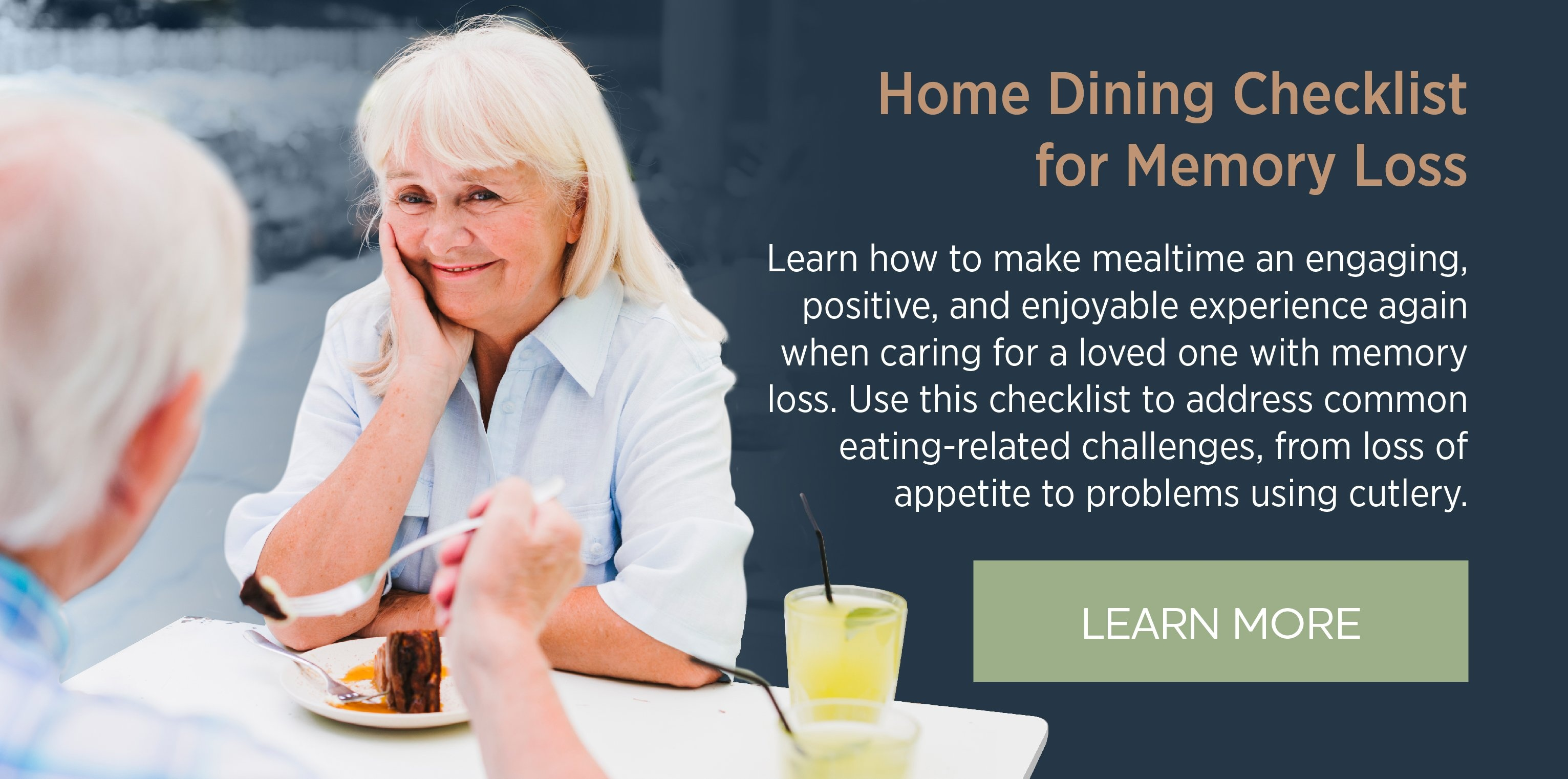 Home Dining Checklist for Memory Loss
