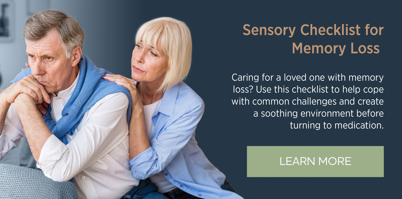 Sensory Checklist for Memory Loss