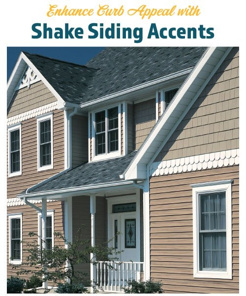 Enhance Curb Appeal with Shake Siding Accents