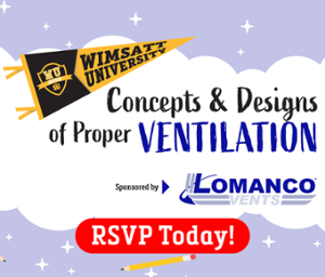 RSVP for Concepts & Designs of Proper Ventilation!