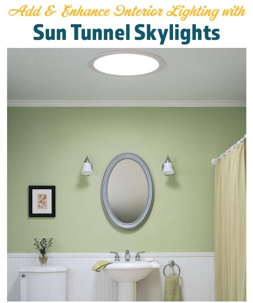 Add & Enhance Interior Lighting with Sun Tunnel Skylights