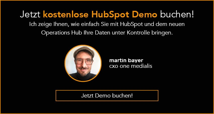 Jetzt kostenlose HubSpot Demo buchen!