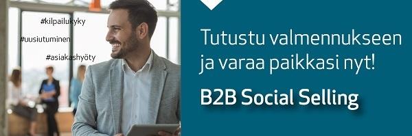 Tutustu ja varaa valmennus: B2B Social Selling