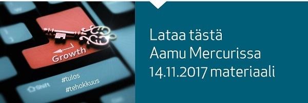 Lataa Aamu Mercurissa 14.11.2017 materiaali