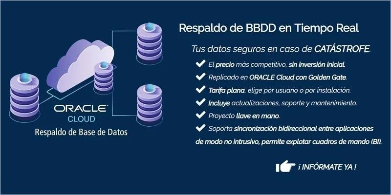 respaldo de base de datos en tiempo real sobre oracle cloud