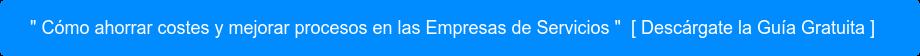 """"""" Cómo ahorrar costes y mejorar procesos en las Empresas de Servicios """"[  Descárgate la Guía Gratuita ]"""