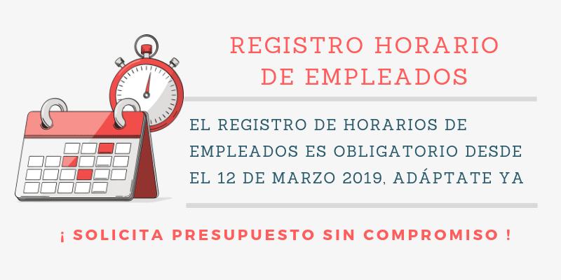 Registro Horario de Empleados - Presupuesto sin compromiso