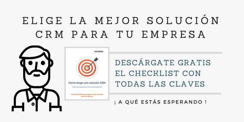 Elige la mejor solución CRM para tu empresa