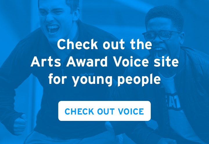 Check out the Arts Award Voice site for young people