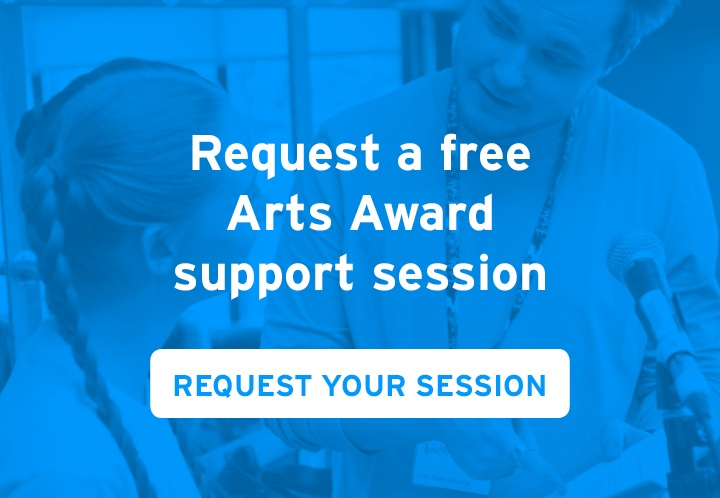 Request a free Arts Award support session