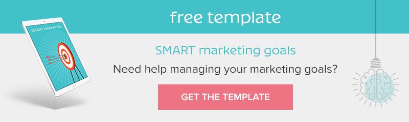 SMART Marketing Goals Free Template