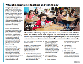 mix teaching and technology
