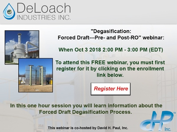 Degasification Webinar Registration