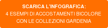 SCARICA L'INFOGRAFICA: 4 ESEMPI DI ACCOSTAMENTI BICOLORE  CON LE COLLEZIONI GARDENIA