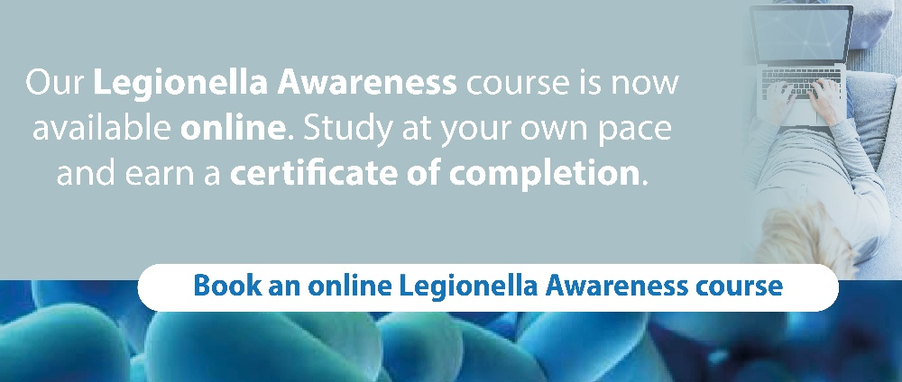 Book an online legionella awareness course and get certified
