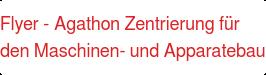 Flyer- Agathon Zentrierung für den Maschinen- und Apparatebau