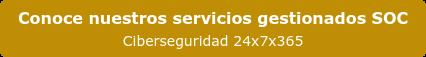 Conoce nuestros servicios gestionados SOC Ciberseguridad 24x7x365