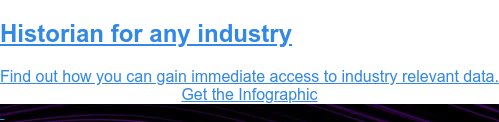 Historian for Any Industry  Find out how you can gain immediate access to industry relevant data. Download the Infographic