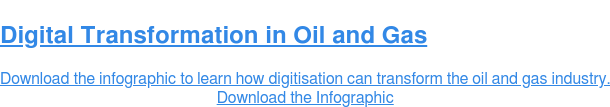 Digital Transformation in Oil and Gas  Download the infographic to learn how digitisation can transform the oil and  gas industry. Download the Infographic