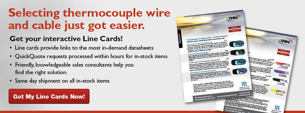 Thermocouple Wire & Cable Line Cards